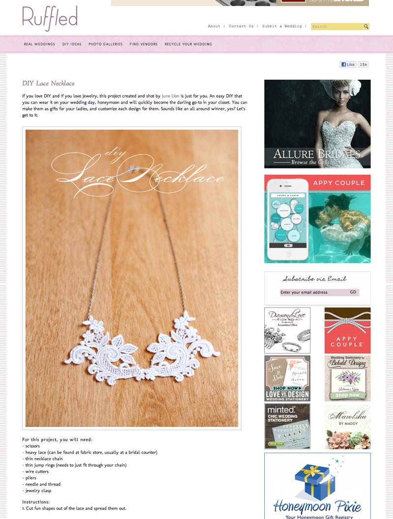 Ruffled Blog Necklace
