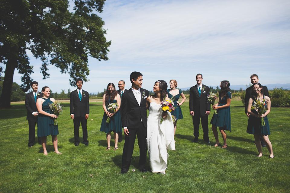 wedding party photos portland