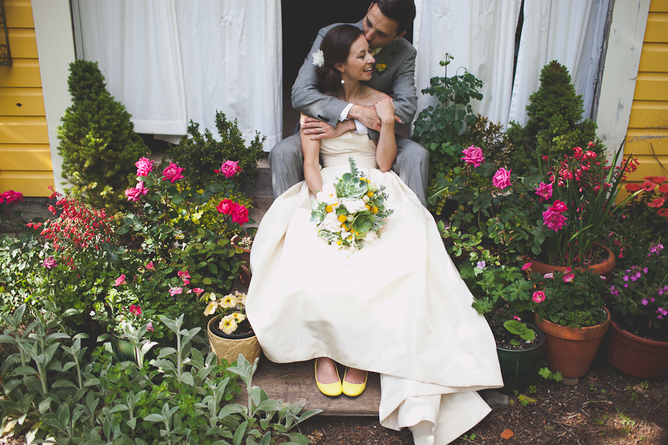 DIY Modern vintage wedding at Mt. Hood Organic Farms in Parkdale, Oregon.