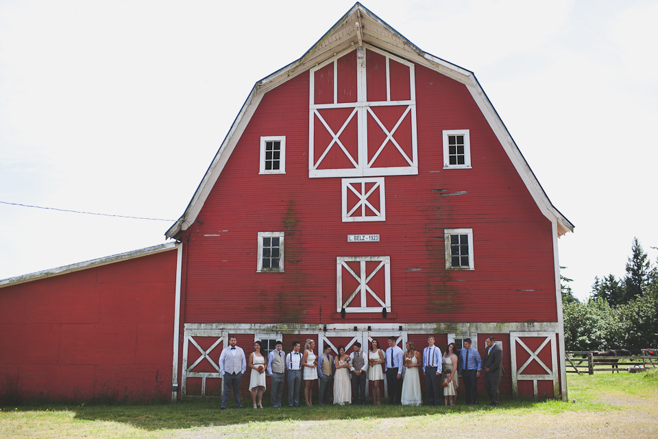 barn wedding portland or