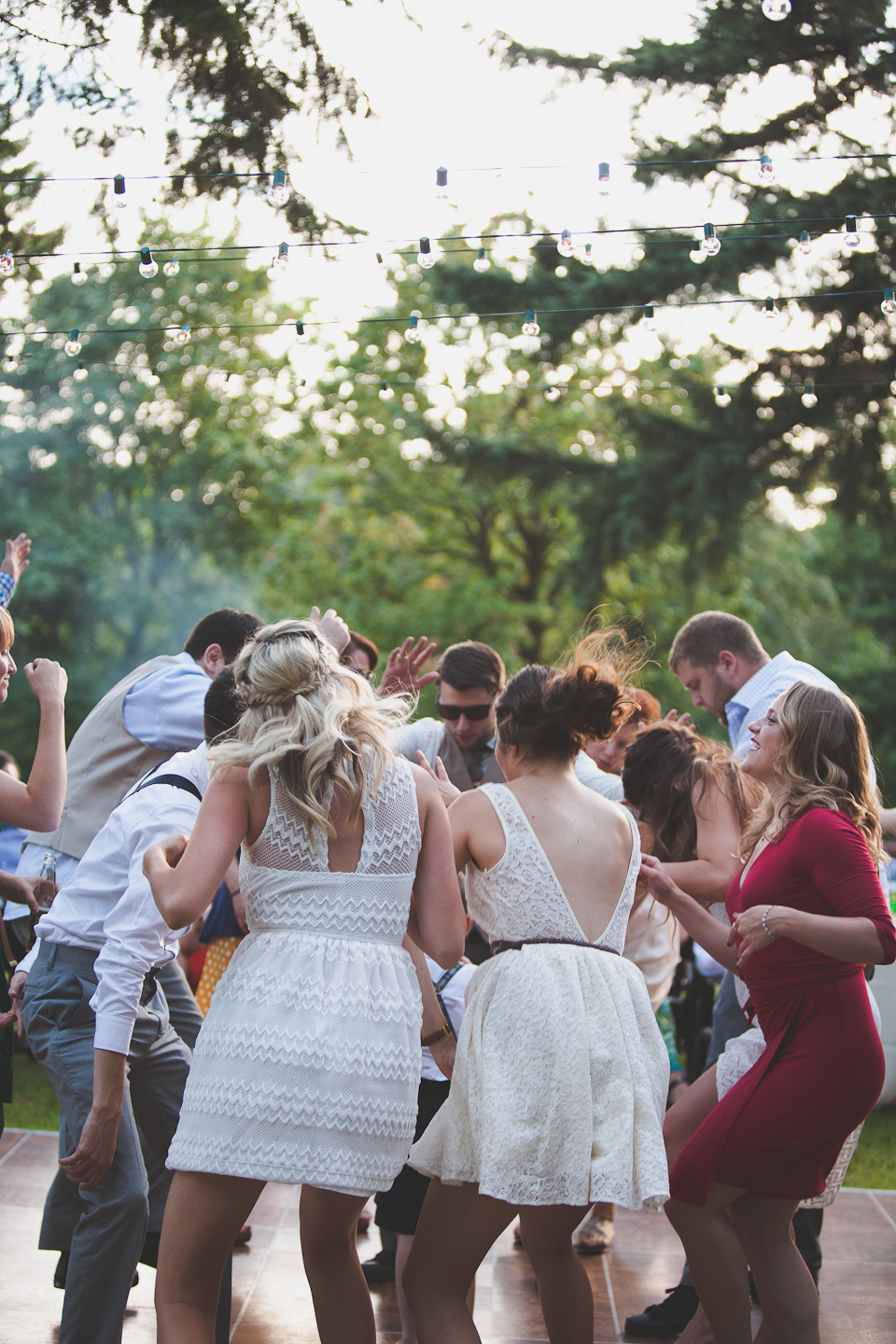 Dance Party Farm Wedding