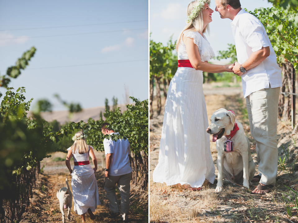 first look winery wedding WA