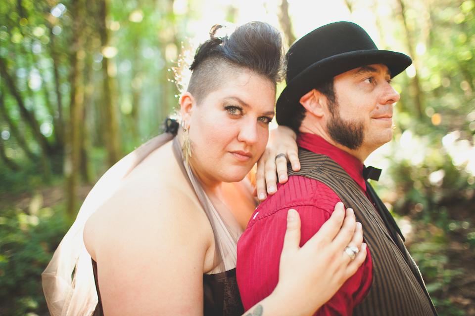 off-beat wedding photographer portland