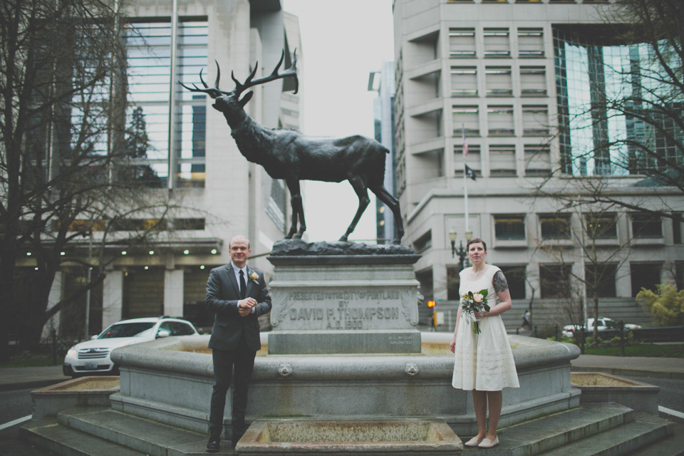 Portland Oregon Courthouse Elopement
