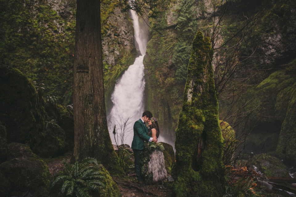 Wahclella Falls wedding