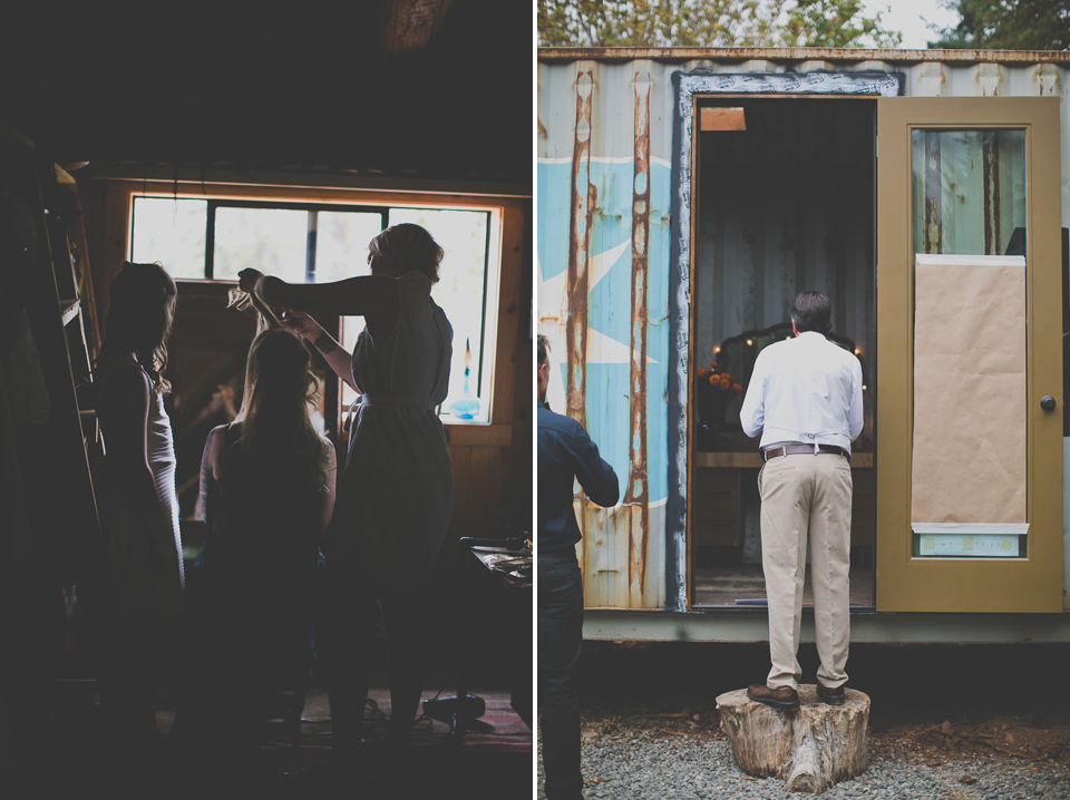 Oregon cabin wedding