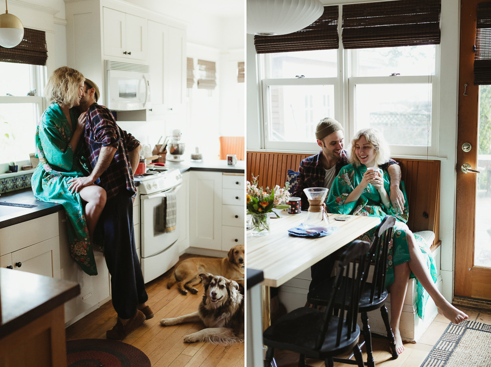 Intimate engagement photos, Portland