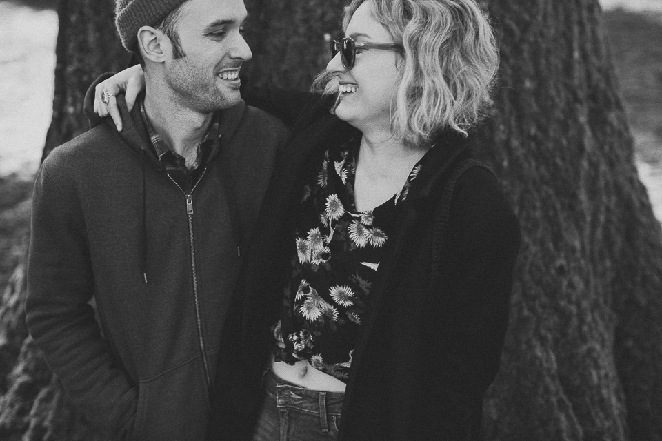 Intimate engagement photos, Portland